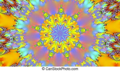 Golden kaleidoscope motion background
