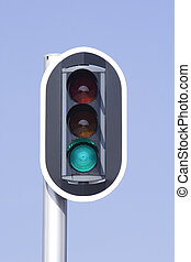 trafficlight - traffic light showing green for GO