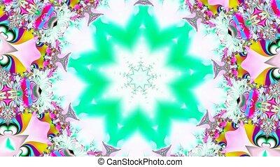 Many colors kaleidoscope motion background