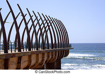 Scenic View Of The Pier At Umhlanga Rocks Durban South...