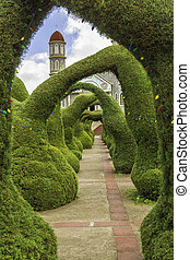 Zarcero Topiaries - Topiaries of cypress decorated with...