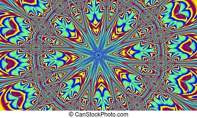 Multicolor kaleidoscope motion background