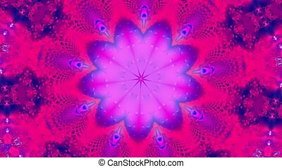 Purple kaleidoscope motion background