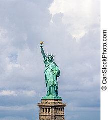 Statue of Liberty in New York City Manhattan