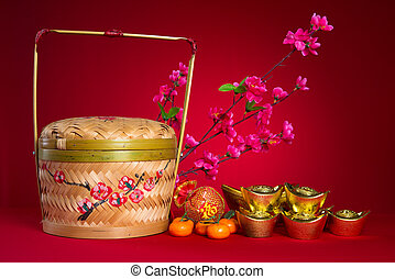cinese, nuovo, anno, Decorazioni, generci, cinese,...