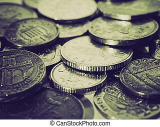 Vintage sepia Pounds picture - Retro sepia Range of British...