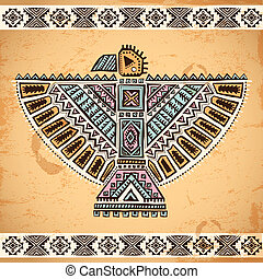 Tribal native American eagle symbols - Tribal vintage native...