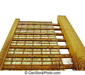 Retro looking Baffron Tower London