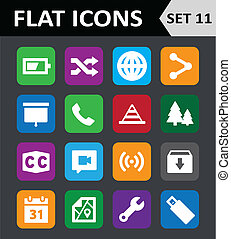 Universal Colorful Flat Icons Set 11