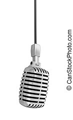 Microphone clipping path included - Microphone Image with...