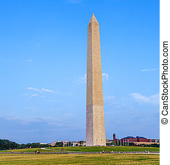 Outdoor view of Washington Monument in Washington DC with...