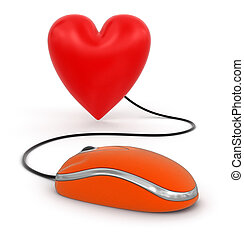 Heart with Computer Mouse
