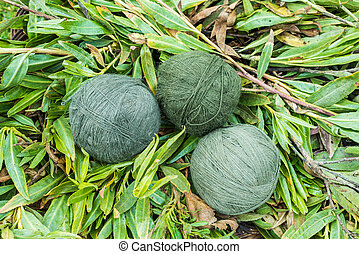 natural dyed wool yarn peruvian Andes Cuzco Peru - natural...