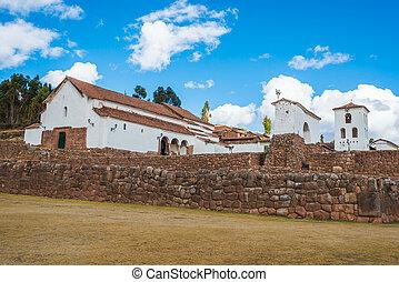 miasto,  Chincheros, peruwiański,  Cuzco, Andy,  peru