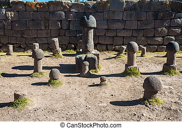 Fertility temple in the peruvian Andes at Puno Peru