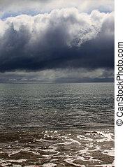 Ocean storm - The sky above ocean before storm. New Zealand