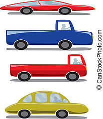 Cute Icons Set : Car / Vehicles / Transportation.