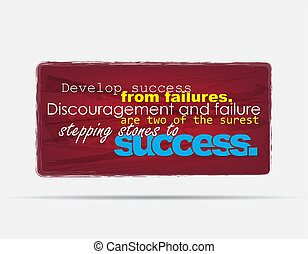 Motivational Background - Develop success from failures....