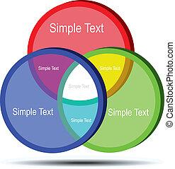 Circle Diagram concept flow chart illustration design.