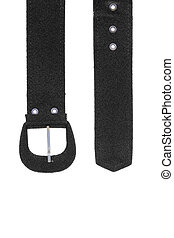 Female belt with buckle - Black fabric strap with a buckle...