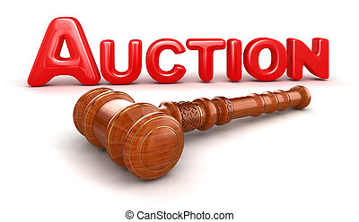Wooden Mallet and Auction - 3d wooden mallet and Auction...
