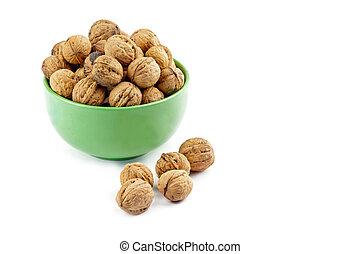 walnuts in dish