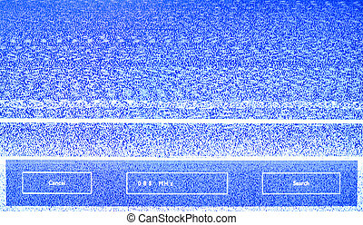 TV screen - vector TV screen, lost signal,