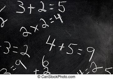 ecuaciones, pizarra