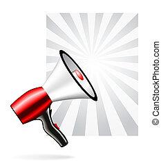 alto-falante, megafone, ou, ícone
