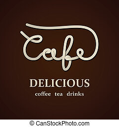 vector cafe calligraphic design template