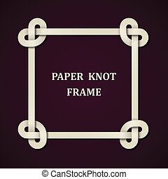 vector paper knot frame background