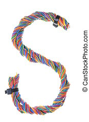 Colorful wire in the shape S
