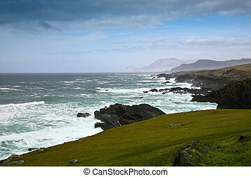 west-coast ireland Kerry - coast view ,west of ireland....