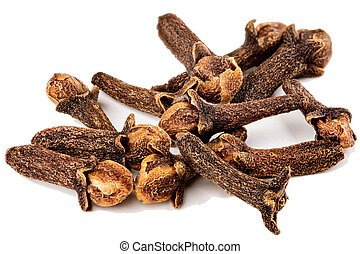 Cloves are the aromatic dried flower buds of a tree Macro of...