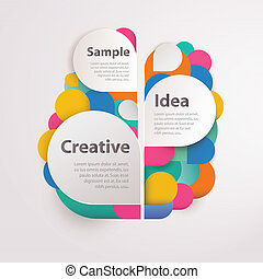 Abstract colorful background with text space. Vector