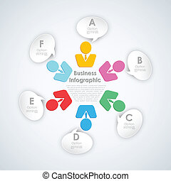 Business Infograph with Human icon