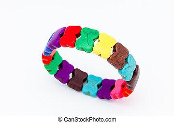 Bracelets - Colorful fashion bracelets on a white background