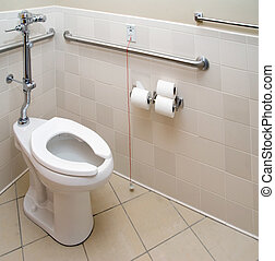 Hospital Patient Bathroom - A patient bathroom in a private...