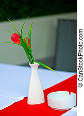 Red-and-white still life