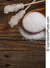 White sugar concept with space for text