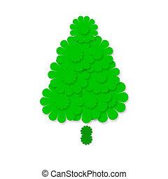 cute fir christmas card isolated