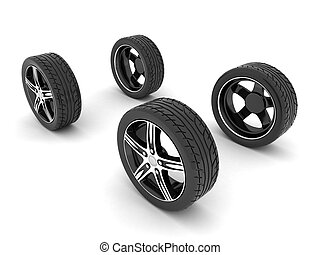 sport wheels - image sport wheels with alloy wheels on a...