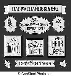 Chalkboard Thanksgiving Design Elem - Chalkboard style...