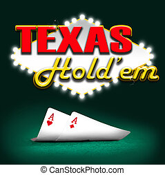 Texas hold'em, gambling background color