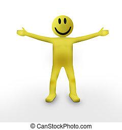 Smiley Face Person