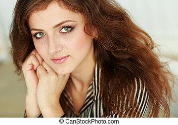 Closeup portrait of a beautiful confident businesswoman