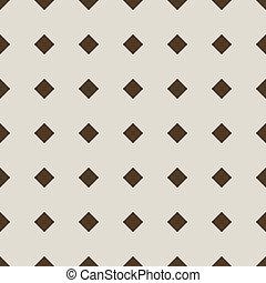 Seamless stylish beige diamond vector pattern.