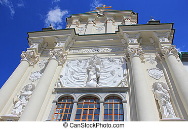 Richly decorated facade of the church, Ptuj - Richly...