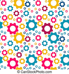 The beautiful cogwheel pattern - The seamless pattern made...