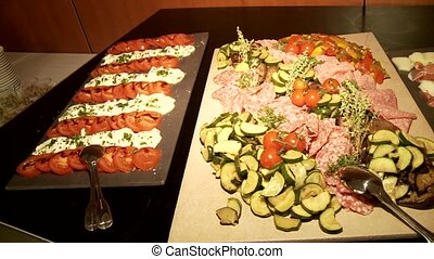 Antipasti - Video footage of Antipasti buffet